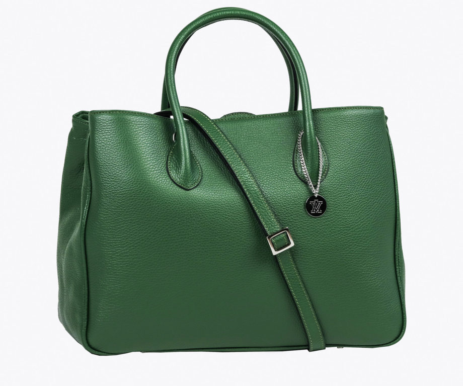 Adele Vivian - Leather Bags - Milano Grande Green